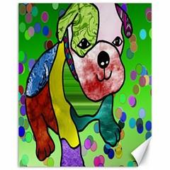 Pug Canvas 11  X 14  (unframed) by Siebenhuehner