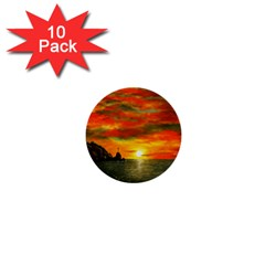 Alyssa s Sunset By Ave Hurley Artrevu   1  Mini Button (10 Pack)  by ArtRave2