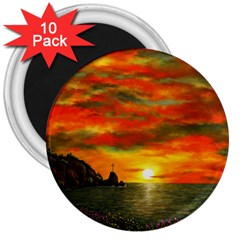 Alyssa s Sunset By Ave Hurley Artrevu   3  Magnet (10 Pack) by ArtRave2
