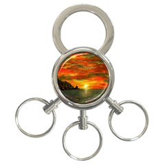 Alyssa s Sunset By Ave Hurley Artrevu   3 Ring Key Chain by ArtRave2
