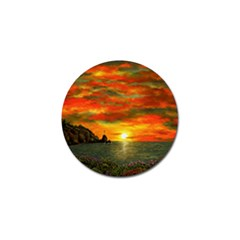 Alyssa s Sunset by Ave Hurley ArtRevu - Golf Ball Marker (10 pack) by ArtRave2