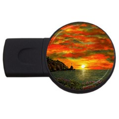 Alyssa s Sunset By Ave Hurley Artrevu   Usb Flash Drive Round (2 Gb) by ArtRave2
