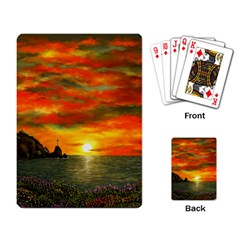 Alyssa s Sunset By Ave Hurley Artrevu   Playing Cards Single Design by ArtRave2