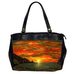 Alyssa s Sunset By Ave Hurley Artrevu   Oversize Office Handbag (2 Sides) by ArtRave2