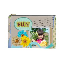 Kids By Kids   Cosmetic Bag (large)   Xefg57fx3wgs   Www Artscow Com Front