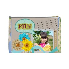 Kids By Kids   Cosmetic Bag (large)   Xefg57fx3wgs   Www Artscow Com Back