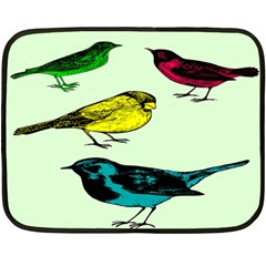 Song Birds Mini Fleece Blanket (single Sided)