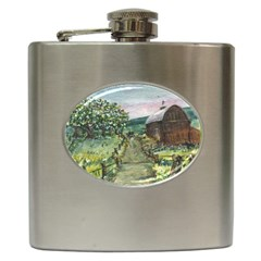 amish Apple Blossoms  By Ave Hurley Of Artrevu   Hip Flask (6 Oz) by ArtRave2
