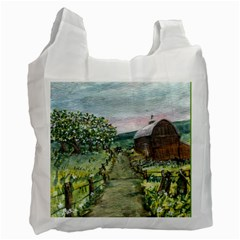 amish Apple Blossoms  By Ave Hurley Of Artrevu   Recycle Bag (two Side) by ArtRave2