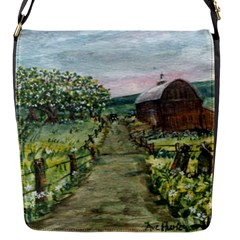 amish Apple Blossoms  By Ave Hurley Of Artrevu   Flap Closure Messenger Bag (s) by ArtRave2