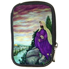 Jesus Overlooking Jerusalem   Ave Hurley   Artrave   Compact Camera Leather Case by ArtRave2