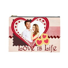 Love By Ki Ki   Cosmetic Bag (large)   Hlv5741x3ssi   Www Artscow Com Front