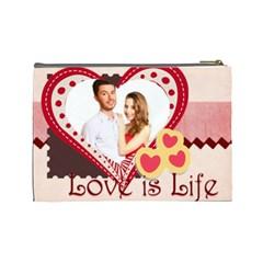 Love By Ki Ki   Cosmetic Bag (large)   Hlv5741x3ssi   Www Artscow Com Back