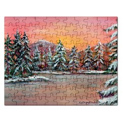 jane s Winter Sunset   By Ave Hurley Of Artrevu   Jigsaw Puzzle (rectangular) by ArtRave2