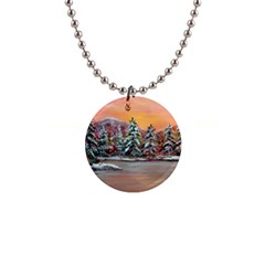 jane s Winter Sunset   By Ave Hurley Of Artrevu   1  Button Necklace