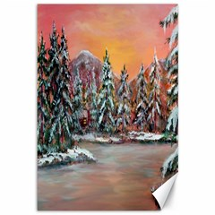 jane s Winter Sunset   By Ave Hurley Of Artrevu   Canvas 12  X 18  by ArtRave2