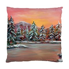 jane s Winter Sunset   By Ave Hurley Of Artrevu   Standard Cushion Case (one Side) by ArtRave2