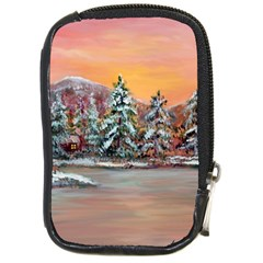 jane s Winter Sunset   By Ave Hurley Of Artrevu   Compact Camera Leather Case by ArtRave2