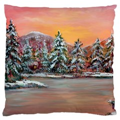 jane s Winter Sunset   By Ave Hurley Of Artrevu   Large Cushion Case (two Sides) by ArtRave2
