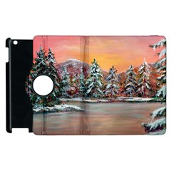 Jane s Winter Sunset   by Ave Hurley of ArtRevu ~ Apple iPad 3/4 Flip 360 Case by ArtRave2