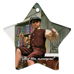 David As Tiny Tim 2013 By Melissa Bledsoe   Star Ornament (two Sides)   0wrf8nja0dxf   Www Artscow Com Front