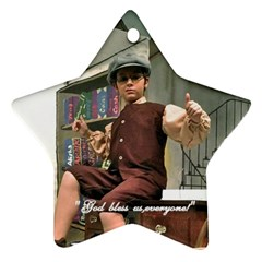 David As Tiny Tim 2013 After Order Was Submitted By Melissa Bledsoe   Star Ornament (two Sides)   9ija68ks7i74   Www Artscow Com Front