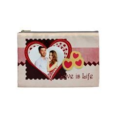 Love By Ki Ki   Cosmetic Bag (medium)   Eo1z7jluuayr   Www Artscow Com Front