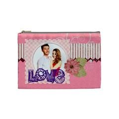 Love By Ki Ki   Cosmetic Bag (medium)   1kniefjb74ou   Www Artscow Com Front