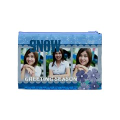 Snow By Jo Jo   Cosmetic Bag (medium)   6mlbx2di7xdk   Www Artscow Com Back