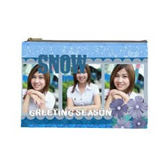 Winter By Jo Jo   Cosmetic Bag (large)   Iw31fd9vf8md   Www Artscow Com Front