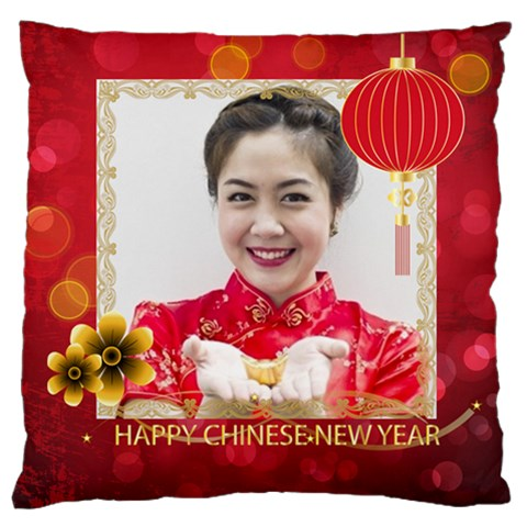 Chinese New Year By Ch   Large Cushion Case (one Side)   N7yyu2jgltev   Www Artscow Com Front