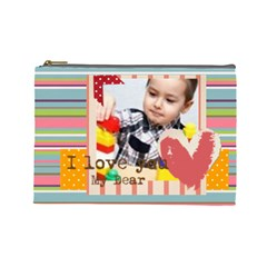 Kids By Kids   Cosmetic Bag (large)   860au0gwc4nc   Www Artscow Com Front