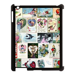 Vintage Valentine Cards Apple iPad 3/4 Case (Black) by EndlessVintage