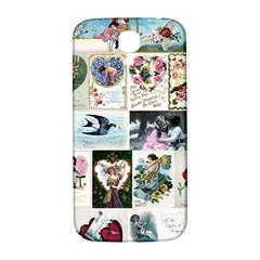 Vintage Valentine Cards Samsung Galaxy S4 I9500/I9505  Hardshell Back Case