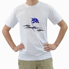 Tribal Dolphin Mens  T Shirt (white) by Contest1603161