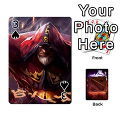 Dota 2 Pack By Arkalagar   Playing Cards 54 Designs   Bm4jc4bk12hy   Www Artscow Com Front - Spade3