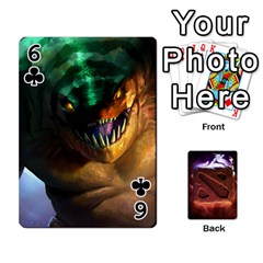 Dota 2 Pack By Arkalagar   Playing Cards 54 Designs   Bm4jc4bk12hy   Www Artscow Com Front - Club6