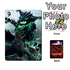Dota 2 Pack By Arkalagar   Playing Cards 54 Designs   Bm4jc4bk12hy   Www Artscow Com Front - Spade9
