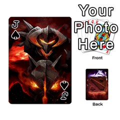 Jack Dota 2 Pack By Arkalagar   Playing Cards 54 Designs   Bm4jc4bk12hy   Www Artscow Com Front - SpadeJ