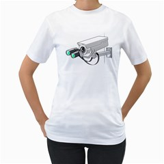 Watching You Womens  T-shirt (White) by Contest1762364