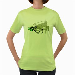 Watching You Womens  T-shirt (Green) by Contest1762364