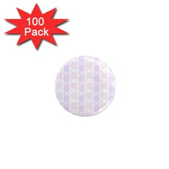 Allover Graphic Soft Pink 1  Mini Button Magnet (100 Pack) by ImpressiveMoments