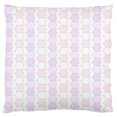 Allover Graphic Soft Pink Large Cushion Case (Two Sided)