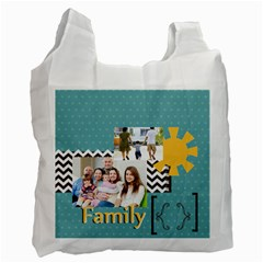 Family By Family   Recycle Bag (two Side)   16114vqpgt87   Www Artscow Com Front