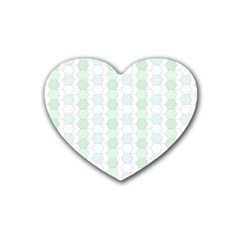 Allover Graphic Soft Aqua Drink Coasters 4 Pack (heart)  by ImpressiveMoments