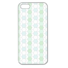Allover Graphic Soft Aqua Apple Seamless Iphone 5 Case (clear)