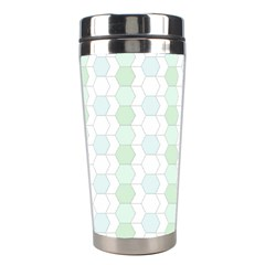 Allover Graphic Soft Aqua Stainless Steel Travel Tumbler by ImpressiveMoments