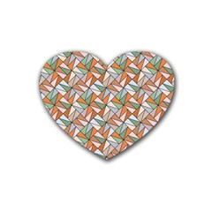 Allover Graphic Brown Drink Coasters 4 Pack (heart)  by ImpressiveMoments