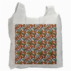 Allover Graphic Brown Recycle Bag (two Sides) by ImpressiveMoments