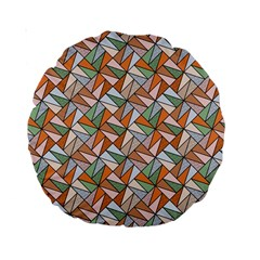 Allover Graphic Brown 15  Premium Round Cushion  by ImpressiveMoments